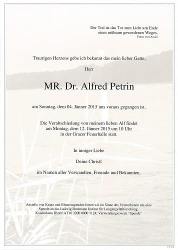 MR. Dr. Alfred Petrin
