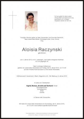 Aloisia Raczynski