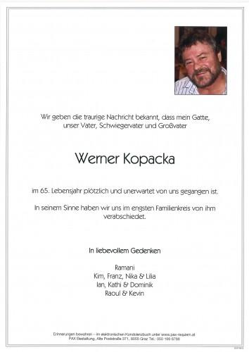 Werner Kopacka