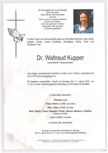Dr. Waltraud Kupper (Trautsamwieser)