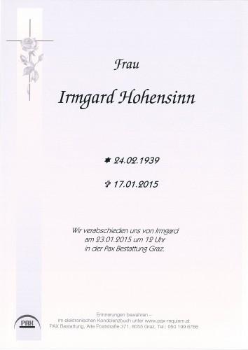 Irmgard Hohensinn