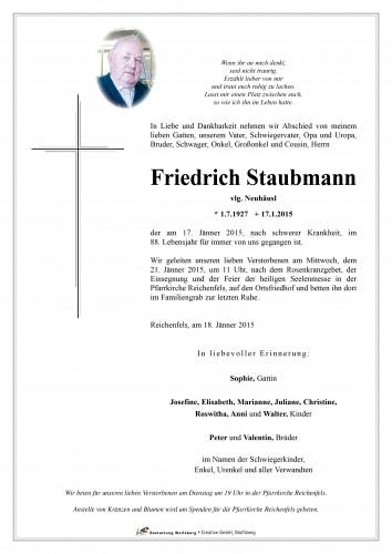 Friedrich Staubmann