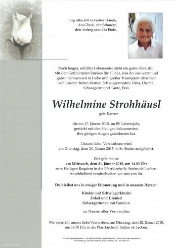 Wilhelmine Strohhäusl