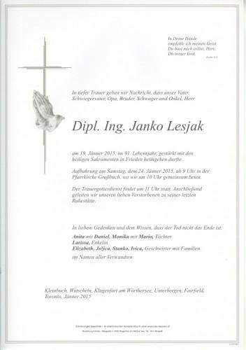 Dipl. Ing. Janko Lesjak