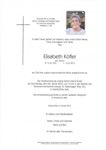 Elisabeth Köfler