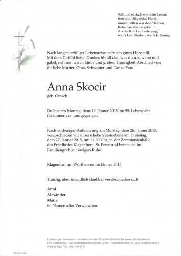 Anna Skocir, geb. Orasch