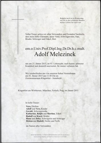 Adolf Melezinek