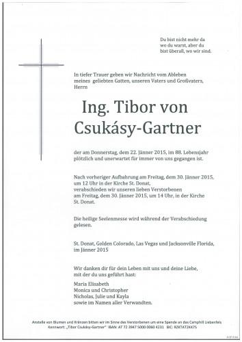 Tibor von Csukasy-Gartner