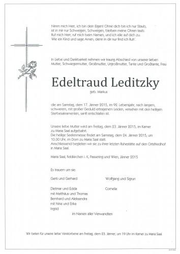 Edeltraud Leditzky     geb. Markus