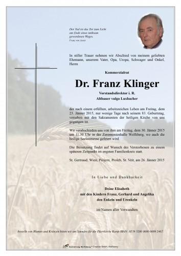 Dr. Franz Klinger