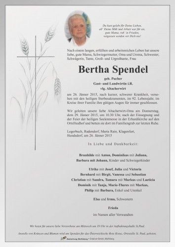Bertha Spendel