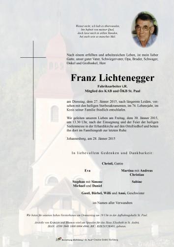 Franz Lichtenegger