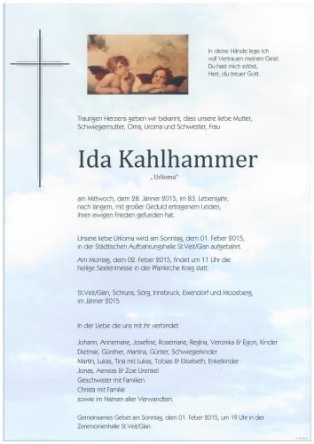 Ida Kahlhammer