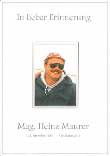 Mag. Heinz Maurer