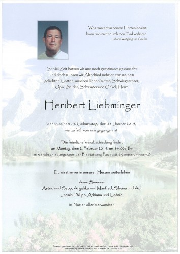 Heribert Liebminger