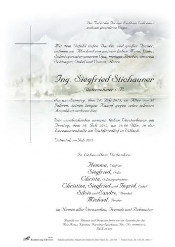 Siegfried Stichauner
