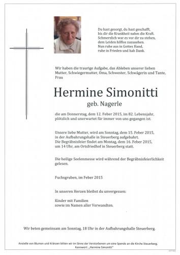 Hermine Simonitti geb. Nagerle