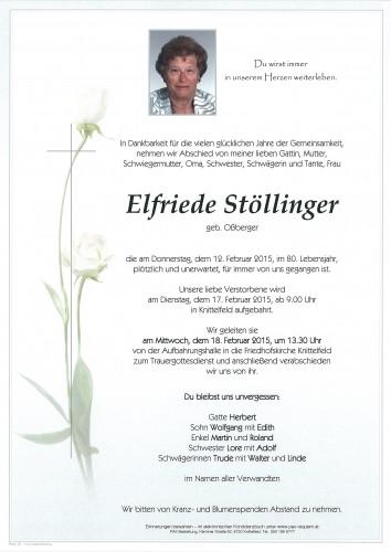 Elfriede Stöllinger