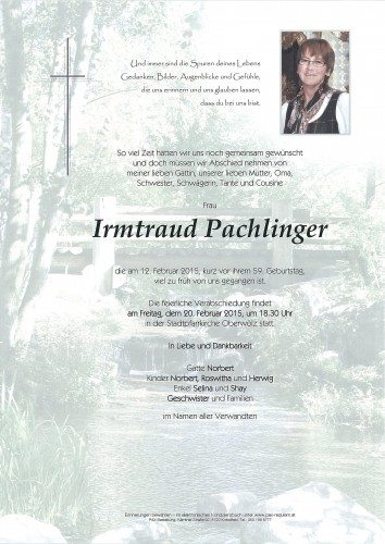 Irmtraud Pachlinger