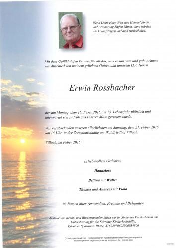 Erwin Rossbacher