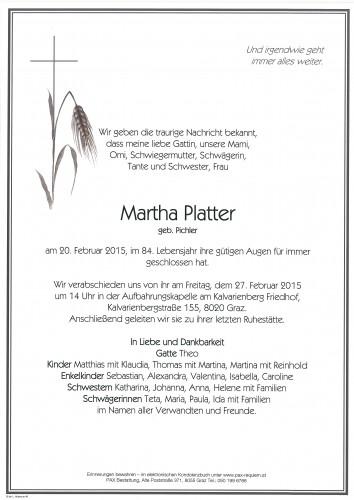 Martha Platter