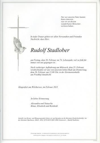 Rudolf Stadlober