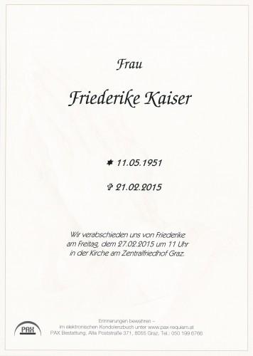 Friederike Kaiser