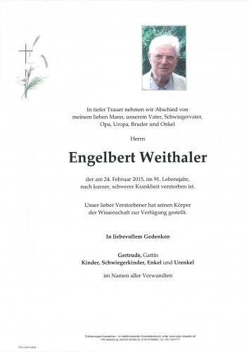 Engelbert Weithaler