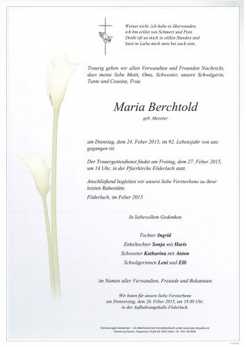 Maria Berchtold geb. Messner