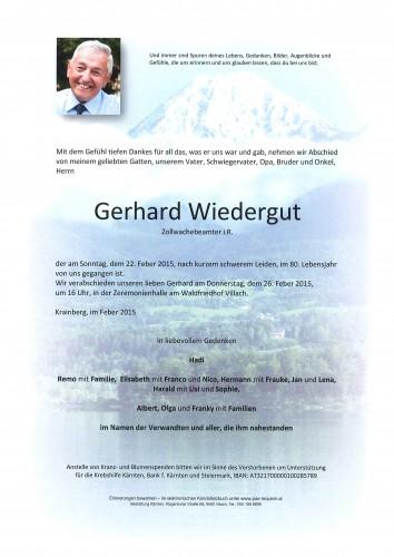 Gerhard Wiedergut