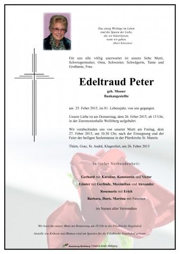 Edeltraud Peter