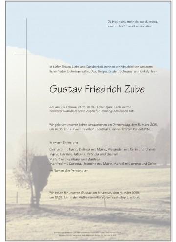 Gustav Friedrich Zube