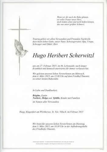 Hugo Heribert Scherwitzl