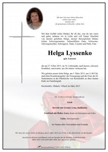 Helga Lyssenko