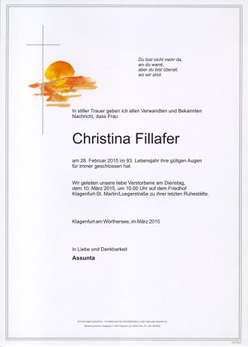 Fillafer Christina