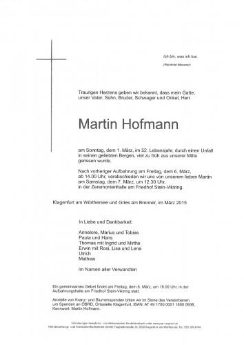 Dipl. Ing. Dr. Martin Hofmann
