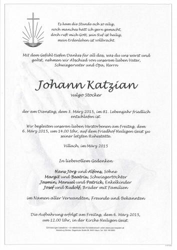 Johann Katzian, vulgo Stocker