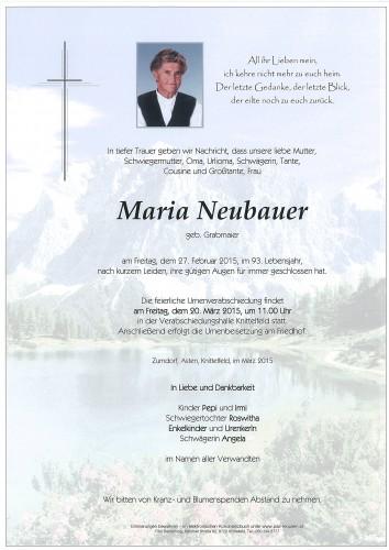 Maria Neubauer
