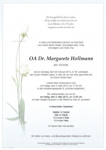 OA Dr. Margarete Hollmann