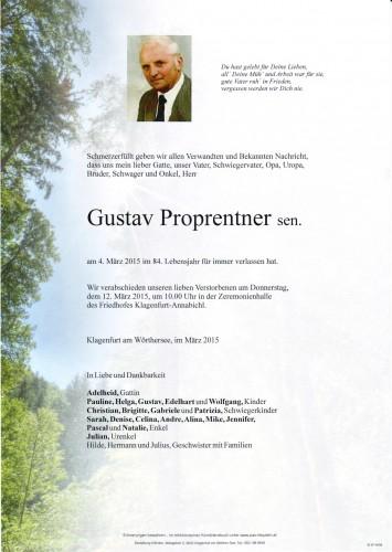 Gustav Proprentner sen.