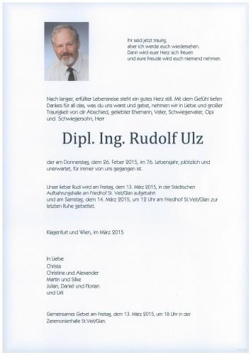 Dipl. Ing. Rudolf Ulz