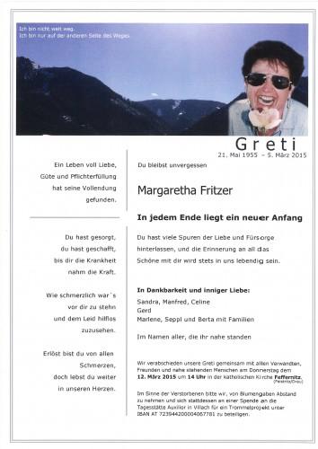 Margaretha Fritzer