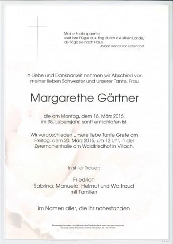 Margarethe Gärtner