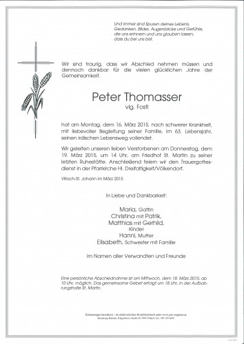 Peter Thomasser