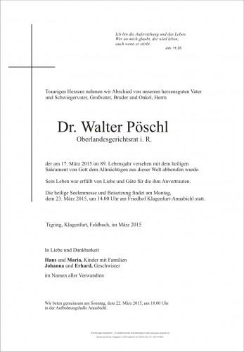 Dr. Walter Pöschl