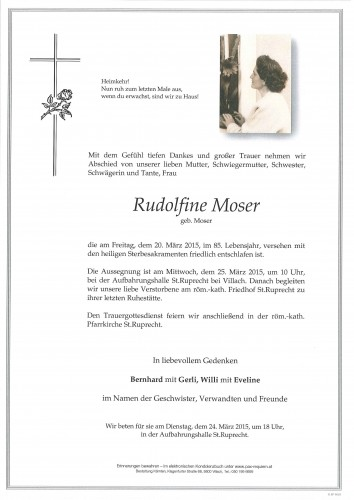 Rudolfine Moser
