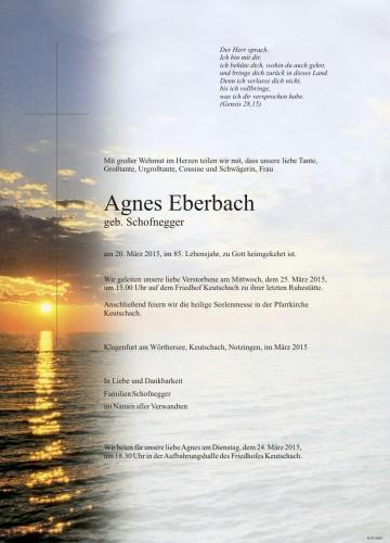 Agnes Eberbach geb. Schofnegger