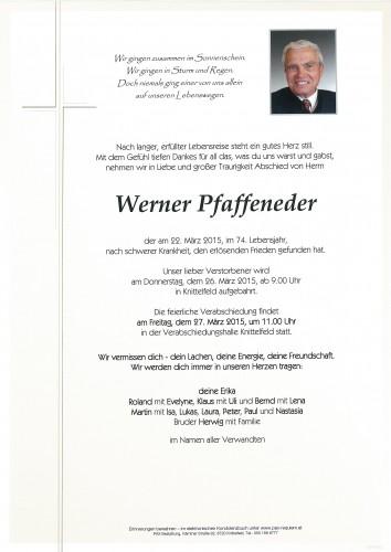 Werner Pfaffeneder