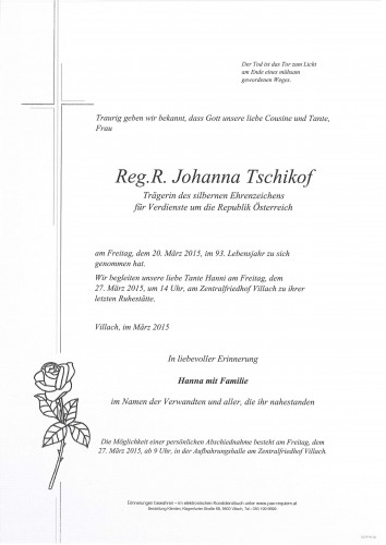 Reg.R. Johanna Tschikof