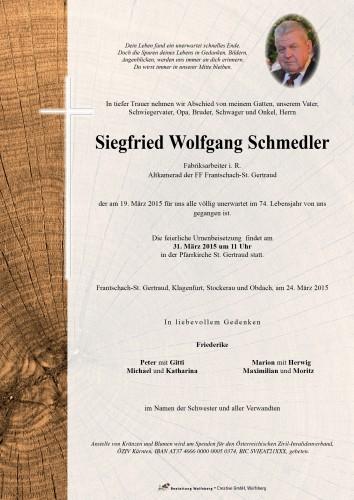 Siegfried Wolfgang Schmedler